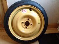 honda jazz 2002 - 2008 spacesaver spare wheel 14 inch