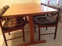 Teak Dining Table and Chairs, by MacIntosh