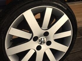 BERLINGO PARTNER 207-306-307-308-406 -407-DISPATCH EXPERT CHOICE OF EIGHT SETS OF ALLOYS WITH TYRES