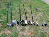 Taylormade golf clubs inc full iron set,putter and choice of 2 driver/wood combo
