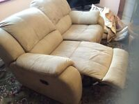 2 recliner sofas