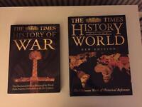 2 Hardback Encyclopaedias! The History of the World & The History of War + free Alcatraz book