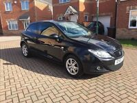 2010 SEAT IBIZA 1.4 SPORTCOUPE, FULL SERVICE HISTORY, MOT 12 MONTHS, MILEAGE 55000, HPI CLEAR