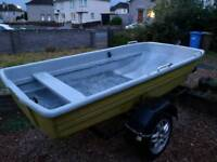 Fiberglass Boat, with Trailer - Open to any Offers!