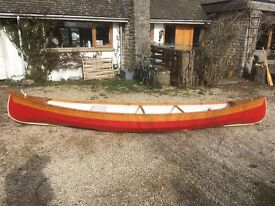 Wooden Canoe, 16 foot. Very good condition.
