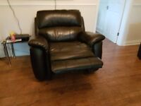 4 months old recliner sofa hardly used. Selling due to moving overseas