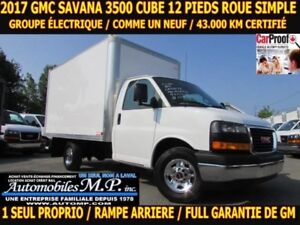 2017 GMC Savana 3500 ROUE SIMPLE 43.000 KM CERTIFI? GROUPE ?LECT