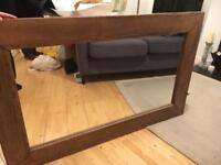 Beautiful solid wood mirror - great gift - rustic / country style