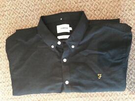 Men's black Farah long sleeved shirt.