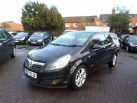 Vauxhall Corsa 1.4 i 16v SXi 3dr 2007 (07 REG) BLACK, ONLY 52,000 MILES WITH SERVICE HISTORY