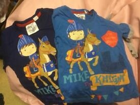 2 mike the knight long sleeve tops