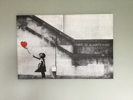 BANKSY CANVAS WALL ART PRINTS - THERE IS ALWAYS HOPE RED BALOON GIRL
