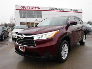 2014 Toyota Highlander LE TOYOTA CERTIFIED PRE OWNED