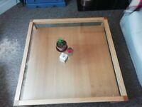 Habitat Oak & Glass Coffee Table