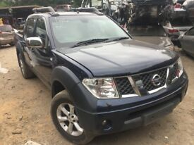 Nissan Navara Pickup 2005-2011 D40 2.5 dCi Outlaw 4d blue breaking for parts