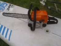 chainsaw stihl petrol 017 starts and runs very well