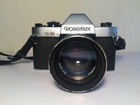 ROLLEIFLEX SL35 with lens, filter, hood & case