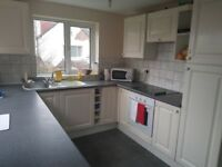 Furnished double bedroom with ensuite bathroom in a friendly houseshare