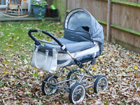 Emmaljunga Mondial Dallas pram/pushchair with all accessories