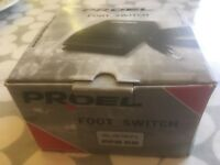 Proel PFS29 Dual Polarity Keyboard Sustain Control Pedal Foot Switch AS NEW IN BOX