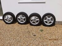 Four Alloy Wheels 6.5J x 15 from Saab 900 Classic