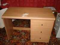 Small desk with 3 draws free to anyone who can collect