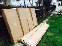 HARD WOOD SHUTTER PANELS 76MM SLATS, 700mm x 1500mm NEW BOXED UP + FRAME WORK