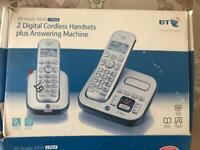 2 Digital Cordless Handsets + Answering Maschine
