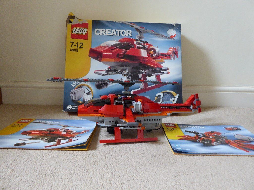 Lego Creator 4895 7 12 3 In 1 Model Helicopter Car Spider With