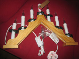 Brand new in box!, Christmas triangle candlebridge, Xmas lights - never used