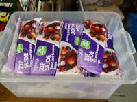 Over 40 packs tesco freezer bags - medium size zip slide job lot