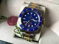 Rolex Submariner Automatic Watch 2tone