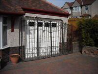 Large double opening Iron gates