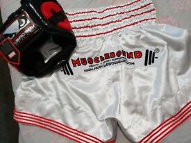 MMA / THAI BOXING SHORTS & HEADGUARD