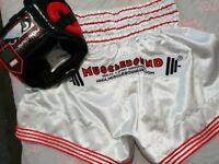MMA / THAI BOXING SHORTS & HEADGUARD