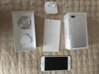 iPhone 7 Plus silver 256 gig unlocked in box as new