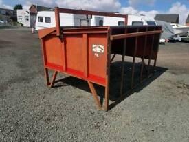 Portequip calf creep feeder trough is solid farm livestock tractor