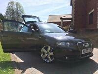 RARE A3 2.0 TDI QUATTRO, 3 DOOR, FULL SERVICE HISTORY, BOSE SPEAKERS, BLUETOOTH, 18INCH ALLOY,