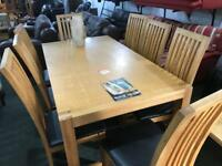 Top quality oak table and 8 chairs