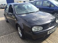 VW golf 1.6 petrol MOT December 2016