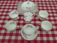 Vintage Bone China DUOS. Tea Set (rose print). Royal Albert. Afternoon T-set