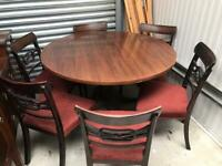 Round dining table and chairs FREE DELIVERY PLYMOUTH AREA