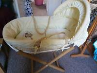 Mamas & Papas Moses Basket and Stand. Perfect condition