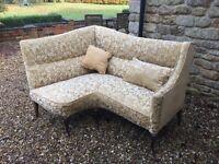 Vintage antique corner sofa newly upuolsterd