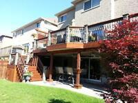 Custom Decks, Backyard structures & Glass Railing