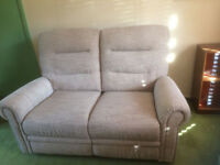TWO SEAT ELECTRIC RECLINING SOFA AND CHAIR