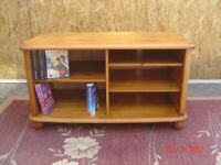Pine TV Stand (Unit) Storage Space for Sky Box etc. Books / DVDs / CDs etc. Can Deliver.