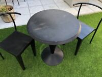 """Philippe Starck """"Dr Glob"""" Table plus 2 Chairs Table Black"""