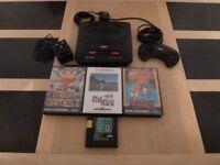 Sega Mega Drive 2 16MB Black Console 4 Games & Pad/Controller