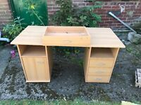 Desk with draws , comes in four sections